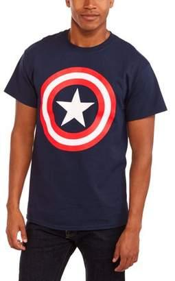 Super Heroes & Villains Marvel Big Men's Shield Logo Graphic T-shirt, 2XL