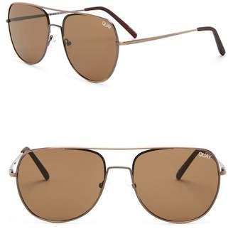 Quay Women's Living Large 58mm Aviator Sunglasses