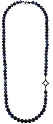 Armenta Old World Sodalite & Diamond Beaded Necklace