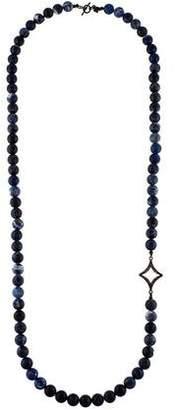 Armenta Old World Sodalite & Diamond Beaded Necklace