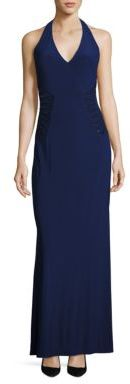 Laundry by Shelli Segal Embellished Halter Gown $295 thestylecure.com