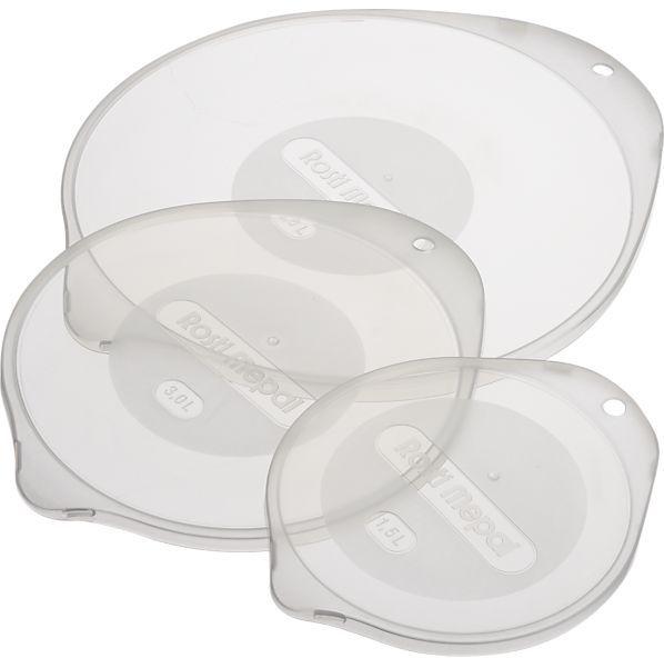 Crate & Barrel 3-Piece Nonslip Mixing Bowl Lid Set