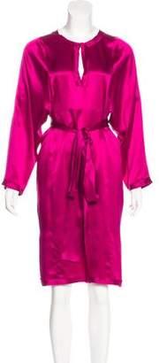 Lanvin Silk Long Sleeve Dress