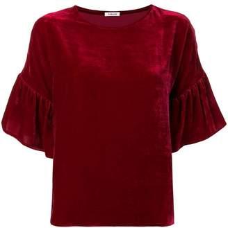 P.A.R.O.S.H. ruffled sleeves velvet blouse