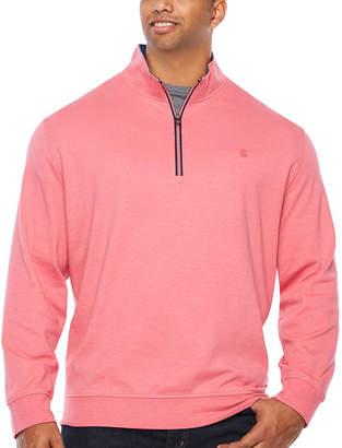 Izod Long Sleeve 1/4 Zip Heavy Weight Interlock Quarter-Zip Pullover Big and Tall