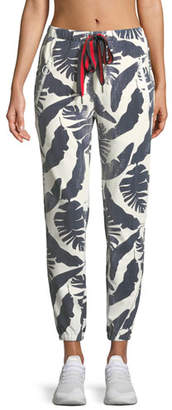 The Upside Lennox Palm-Print Jogger Pants