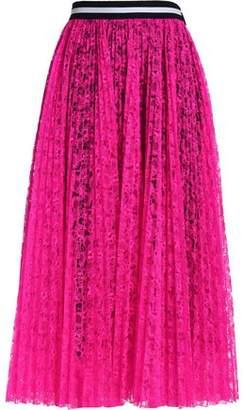 MSGM Pleated Lace Midi Skirt