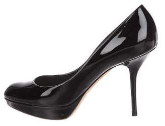 Christian Dior Patent Leather Round-Toe Pumps