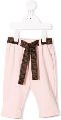 Fendi logo belt trousers