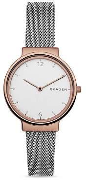 Skagen Ancher Two-Tone Mesh Bracelet Watch, 34mm
