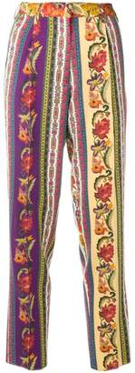 Etro floral patchwork print trousers