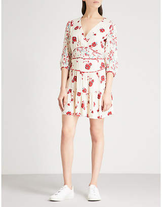 BA&SH Belize printed crepe mini dress