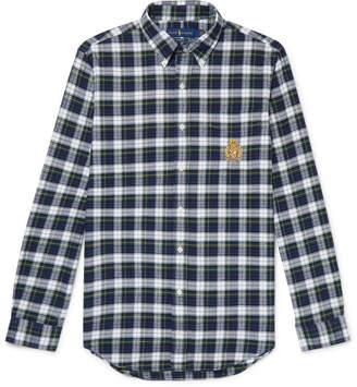 Polo Ralph Lauren Button-Down Collar Checked Cotton-Twill Shirt