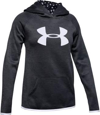 Under Armour Girls' Armour Fleece Big Logo Twist Hoodie