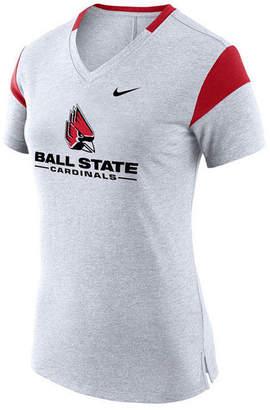 Nike Women's Ball State Cardinals Fan V Top T-Shirt