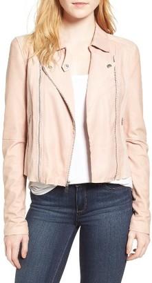 Women's Paige Silvie Leather Moto Jacket $895 thestylecure.com