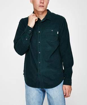 rhythm Corduroy Long Sleeve Shirt Petrol