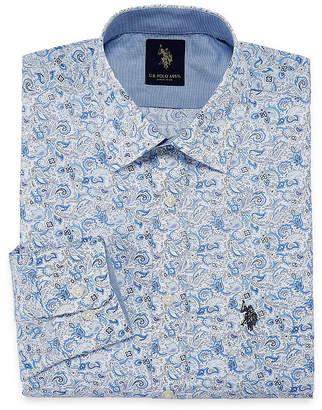 U.S. Polo Assn. USPA Uspa Dress Shirt Long Sleeve Paisley Dress Shirt