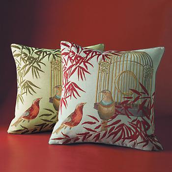 Golden Birdcage Pillow