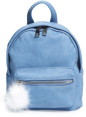 Bp. Faux Leather Mini Backpack - Blue $39 thestylecure.com