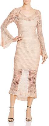 Haute Hippie Maureen Crocheted Midi Dress