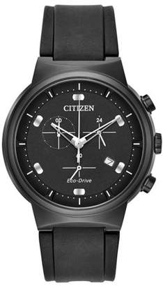 Citizen Eco-Drive Paradex Rubber Chronograph Mens Watch AT2405-01E