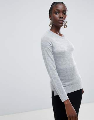 Selected Costa wool blend round neck sweater
