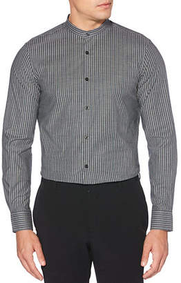 Perry Ellis Slim-Fit Striped Stretch Shirt