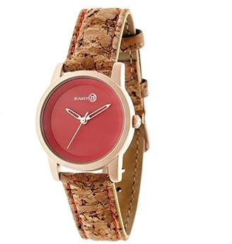 Earth Women's 'Canopies' Quartz Metal and Leather Watch
