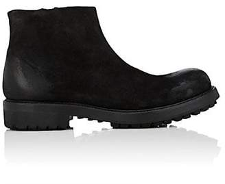 Barneys New York Men's Burnished Suede Boots - Black
