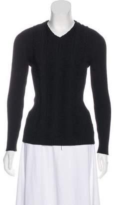 Jean Paul Gaultier Fringe-Accented Knit Sweater
