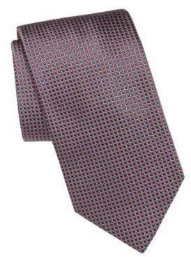 Brioni Mini Dot Print Silk Tie
