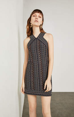BCBGMAXAZRIA Sahara Tapestry Colorblocked Dress