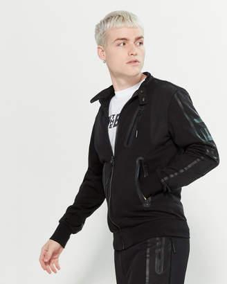 Diesel Contrast Sweatshirt Jacket