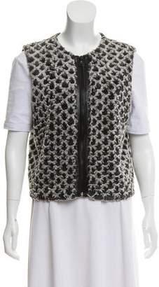 Alice + Olivia faux Fur Patterned Vest