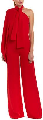 Valentino One-Shoulder Silk Jumpsuit
