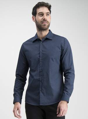 Tu Online Exclusive Tailored Fit Navy Printed Shirt