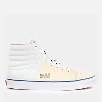 Men's Outside in Sk8Hi Trainers - Natural/Stv Navy/Red