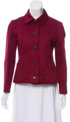 Louis Vuitton Collared Button-Up Jacket