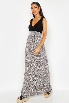 boohoo Leopard Print Maxi Dress