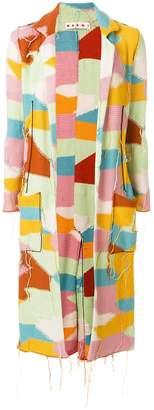 Marni patch string thread cardi coat