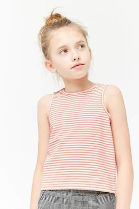 Forever 21 Girls Striped Tank Top (Kids)