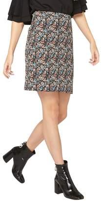 Dorothy Perkins Tall Multi Coloured Floral Print Jacquard Mini Skirt