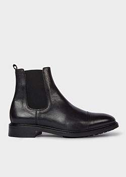 Men's Black Leather 'Jake' Chelsea Boots