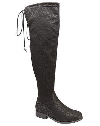 1cafb094abc484 Ravel Hartford Black Leopard Print Boots