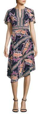 Nanette Lepore Primavera Floral Silk Dress $498 thestylecure.com