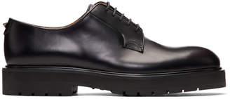 Valentino Black Garavani Leather Blunt Derbys