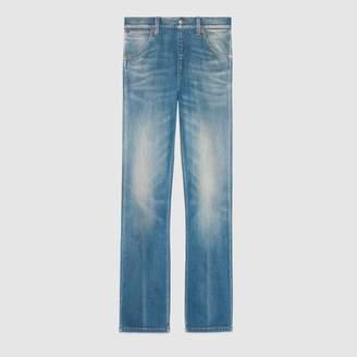 Gucci Denim straight leg pant