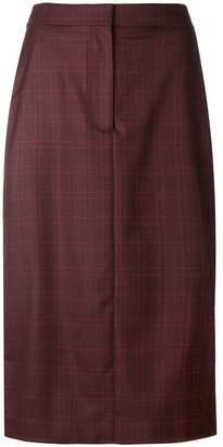 Calvin Klein check stripe pencil skirt