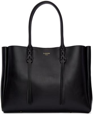 Lanvin Black Leather Small Shopper Bag $1,550 thestylecure.com